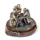 Серебряная статуэтка с позолотой Душевный разговор