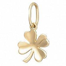 Золотой подвес Клеверок в евро цвете