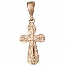 Серебряный крестик Символ духа с позолотой