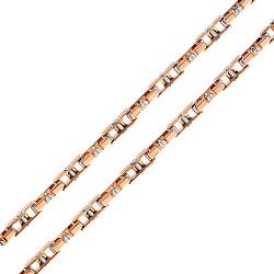 Золотая цепь Baraka Гранада в комбинированном цвете с бриллиантом 000033383