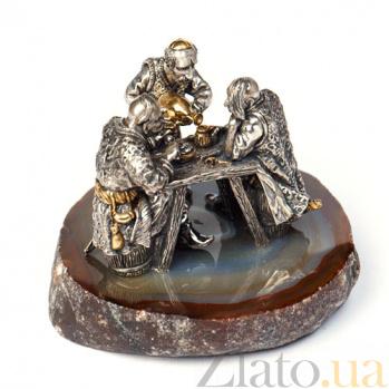 Серебряная статуэтка с позолотой Душевный разговор 1351