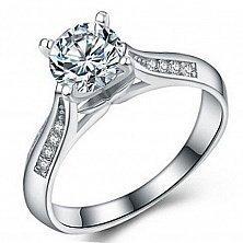 Серебряное кольцо Есения с фианитами