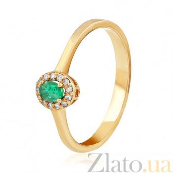 Золотое кольцо с изумрудом и бриллиантами Веста EDM--КД7554СМАРАГД