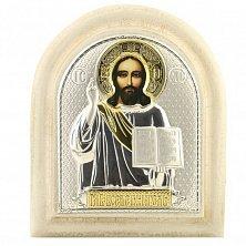 Икона на деревянной основе Спаситель с эмалью микс и позолотой, 11х13