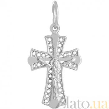 Крест из белого золота Православные традиции 000029424