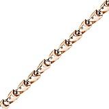 Золотая цепь со вставками черного циркония Скала Дракона