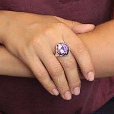 Серебряное кольцо Химия любви в розовых тонах с имитацией опала