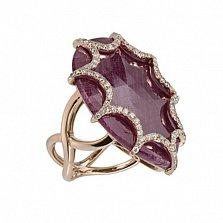 Золотое кольцо с рубином и бриллиантами Айседора