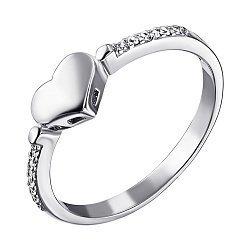 Серебряное кольцо с фианитами 000116333