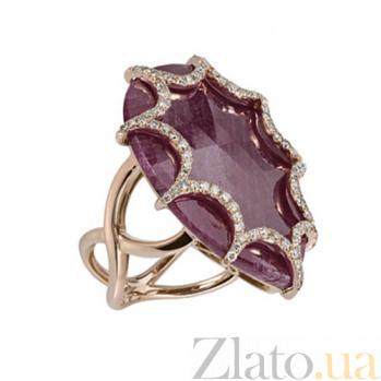 Золотое кольцо с рубином и бриллиантами Айседора KBL--К5002/крас/руб