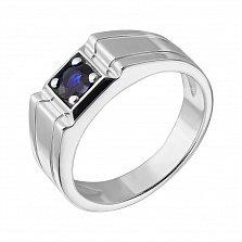 Серебряный перстень Авалон с сапфиром