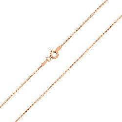 Серебряная цепочка с позолотой в венецианском плетении 000102766
