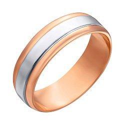 Золотое обручальное кольцо в комбинированном цвете 000005243