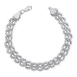 Серебряный браслет в плетении Бисмарк арабский 000133403