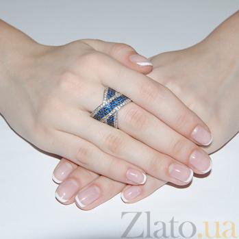 Серебряное кольцо Партенит синий 162421