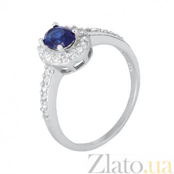 Серебряное кольцо с синим цирконием Диляна SLX--КК2ФС/376