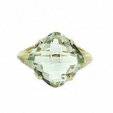 Золотое кольцо в жёлтом цвете с празиолитом Зореслава