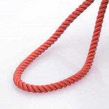 Шелковый красный шнурок Спаси и сохрани с серебряной застежкой, 3мм