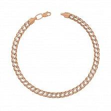 Золотой браслет Неаполь в комбинированном цвете металла