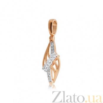 Кулон из золота Блестящее впечатление с фианитами EDM--П7459