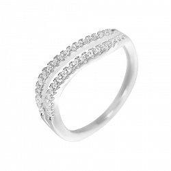 Серебряное кольцо Эллина с фианитами