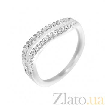 Серебряное кольцо Эллина с фианитами 000081629