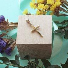 Серебряный крестик с золотыми вставками Мир в душе