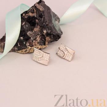 Серебряные серьги Кристел с фианитами 000079887