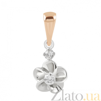 Золотая подвеска с бриллиантами Весеннее цветение KBL--П179/комб/брил