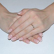 Помолвочное кольцо в красном золоте Вивальди с фианитом