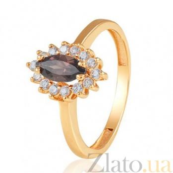 Золотое кольцо с раухтопазом Маркиза EDM--КД4029РАУХТОПАЗ