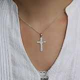 Золотой крестик с бриллиантами Небесное сияние