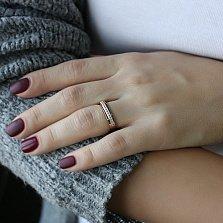 Золотое кольцо Юлиана с цирконием