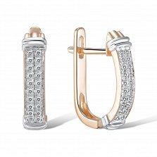 Золотые серьги Альма с бриллиантами
