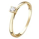 Кольцо в желтом золоте Заветное желание с бриллиантом
