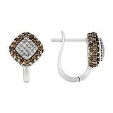 Золотые серьги Нинон с бриллиантами