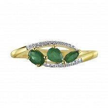 Кольцо из золота с изумрудами и бриллиантами Бабетта