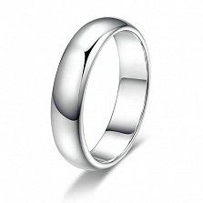 Платиновое обручальное кольцо Вечность вместе