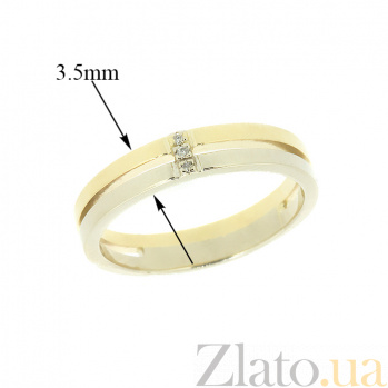 Кольцо из комбинированого золота с бриллиантами Таира 000021448