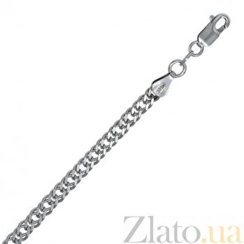 Серебряный браслет Блюз, 4 мм, 21 см 000027690