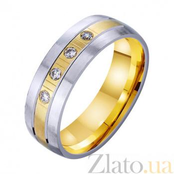 Золотое обручальное кольцо Безграничная любовь с фианитами TRF--4521756