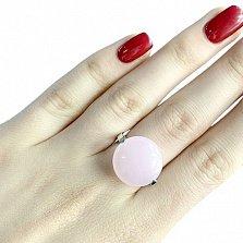 Серебряное кольцо Чеслава с розовым кварцем