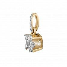 Кулон из желтого золота Тривис с бриллиантами