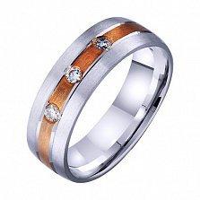 Золотое обручальное кольцо Истина с фианитами