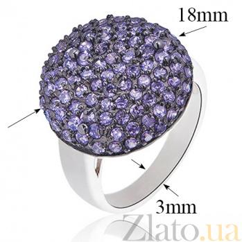 Серебряное кольцо Синий плен с кристаллами Swarovski 10000029