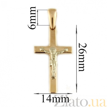 Золотой крестик Небесный хранитель TNG--250019