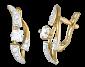 Позолоченные серебряные серьги с фианитами Волна нежности SLX--С3Ф/068