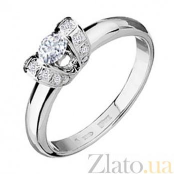 Золотое кольцо с бриллиантами Эрика KBL--К1432/бел/брил