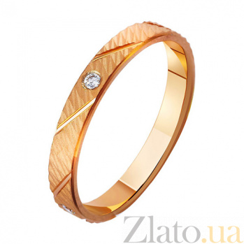 Золотое обручальное кольцо с фианитами Феерия страсти TRF--4121368