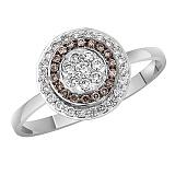 Кольцо в белом золоте Лилия с бриллиантами